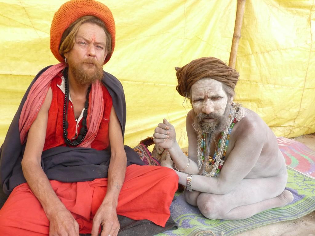 Fidélio, le sâdhu italien et son ami le Naga