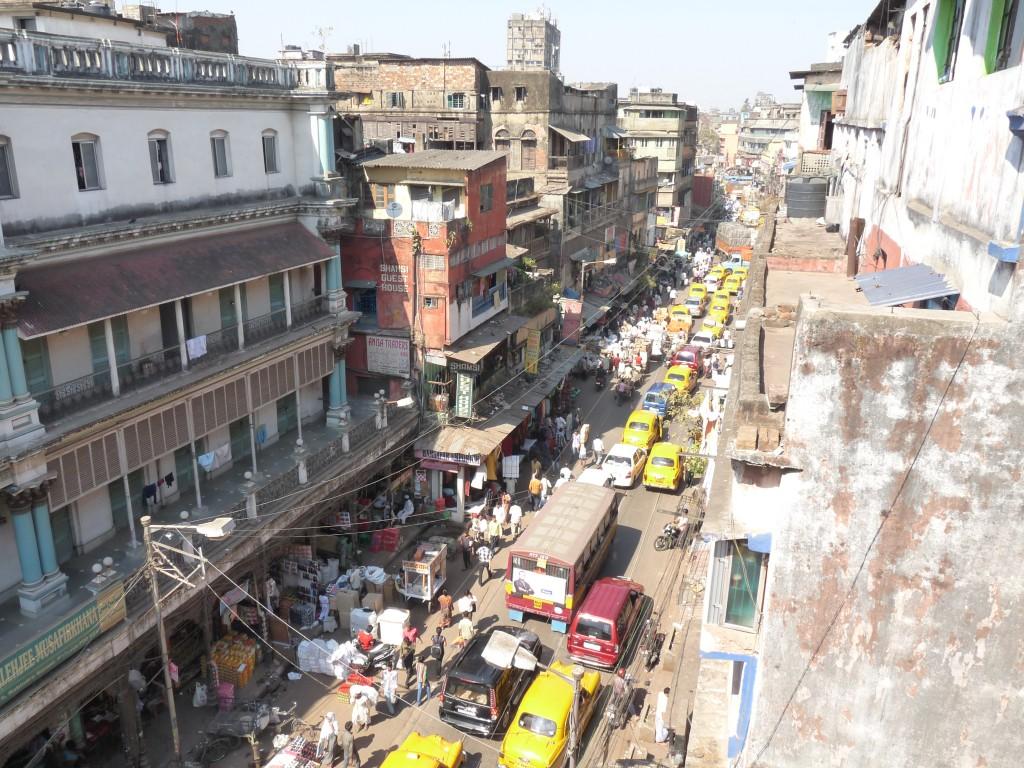 Vue surplombant la rue-Calcutta
