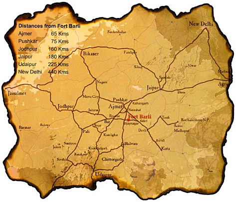 Map to Fort Barli