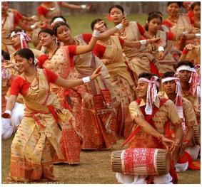 Celebration of Bihu