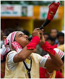 The festival Bihu begins