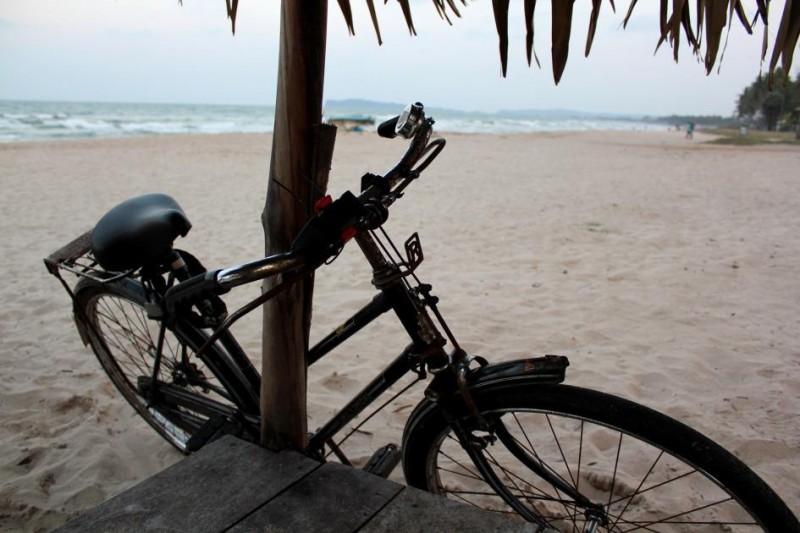 Enfin arrivées sur la plage d'Uppuveli !