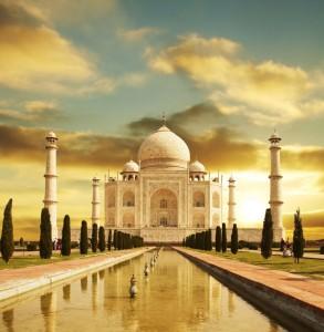 Lever de soleil au Taj Mahal