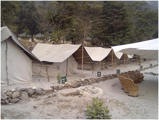Our camp in Rishikesh