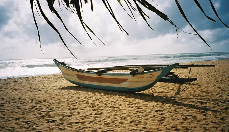 Fischerboot auf dem Strand