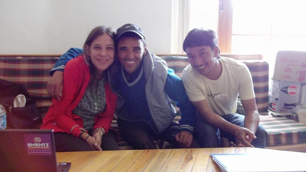 à Leh avec mes anciens collegues ladakhis