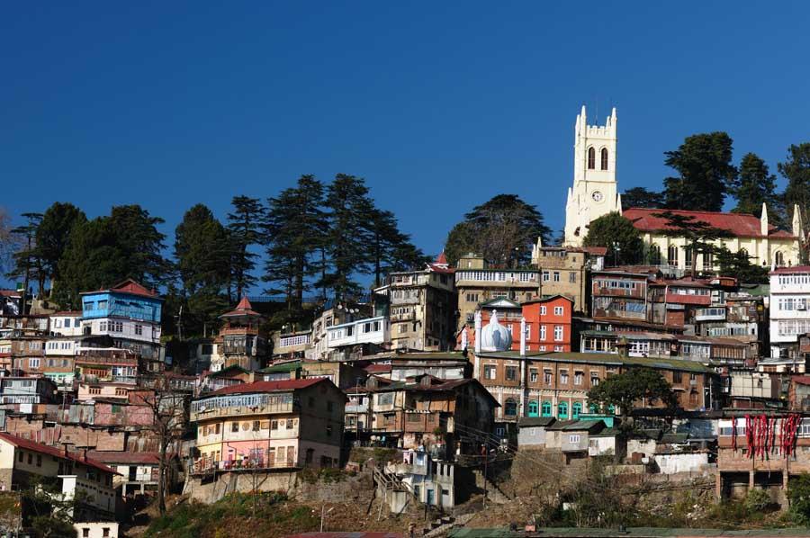 Die Stadt Shimla in Himachal Pradesh