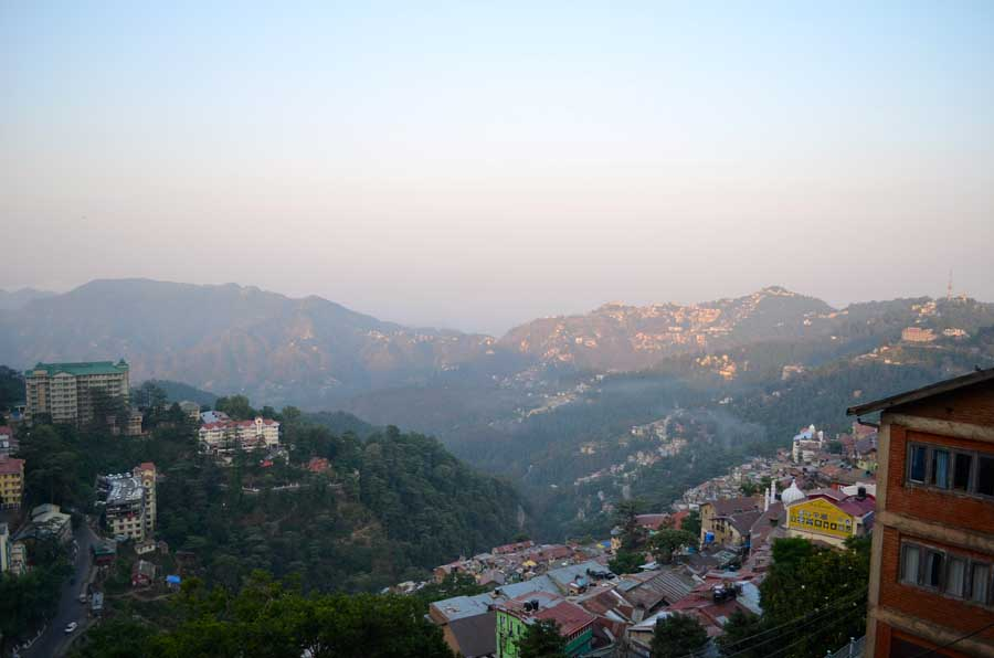 "Aussicht vom ""Ridge"" in Shimla"
