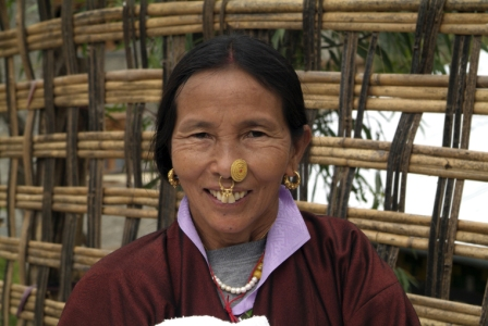 Bhutan Woman with jewelry