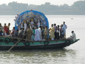Idol immersion Ganges