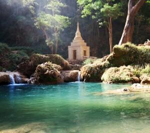 Waterfall in Myanmar