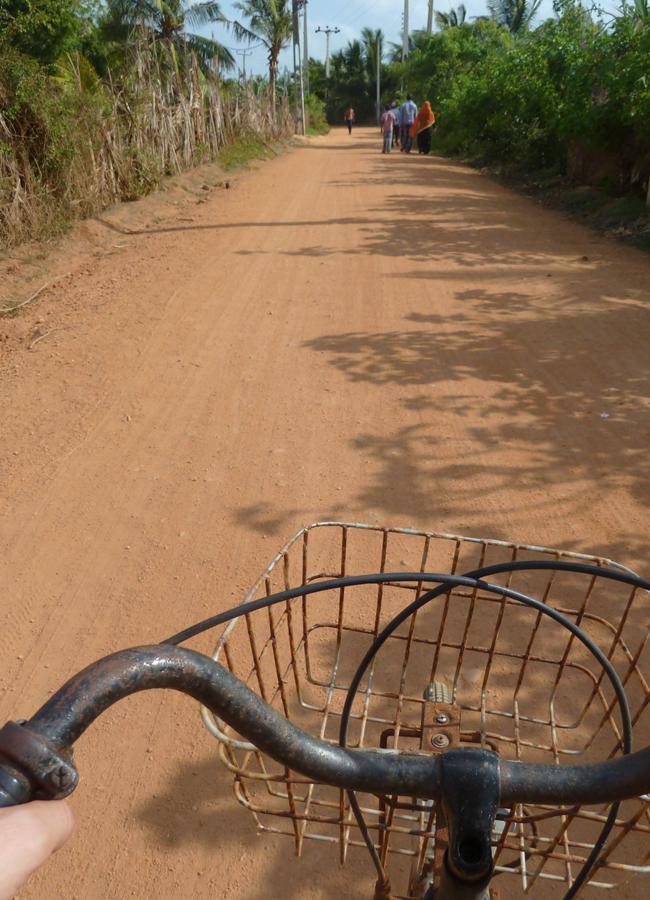 Promenade à vélo au Sri Lanka