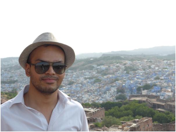 Akhil sur le fort de Jodhpur