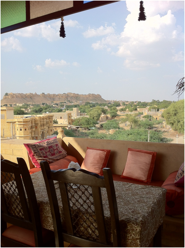 Awesome view of Jaislemer fort from Hotel Fifo Guest House