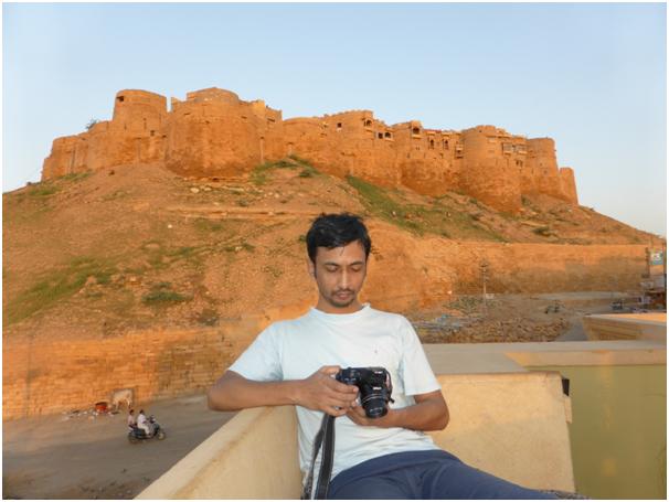 Halder devant le fort de Jaisalmer