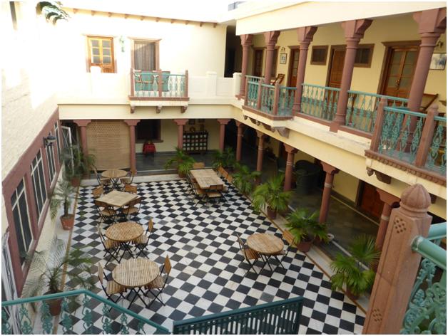 Ratan Vilas courtyard in Jodhpur
