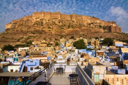 Rajasthan Jodhpur Meherangarh Fort view
