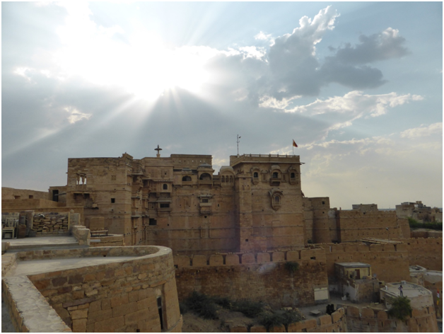 A View of Jaisalmer fort from Killa Bhawan