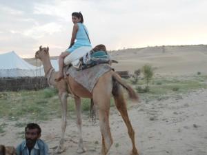 Balade Sur Les Chameaux dans Thar desert