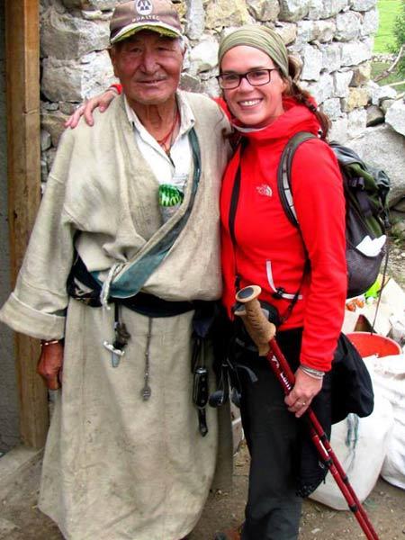Julie, experte de l'Himalaya