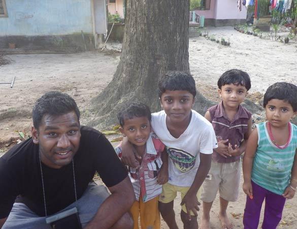 François avec les enfants