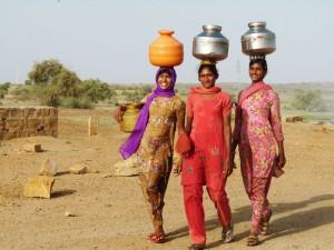 Village Women Fetching Water from Wells