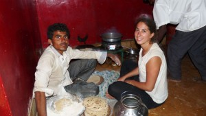 Preparing a meal at Pabu ki Dhani