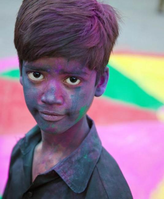 Holi en Inde