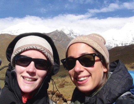Clemence & Alice on a trek in Bhutan