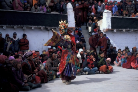 Masked Dances During a Ladakhi Festival