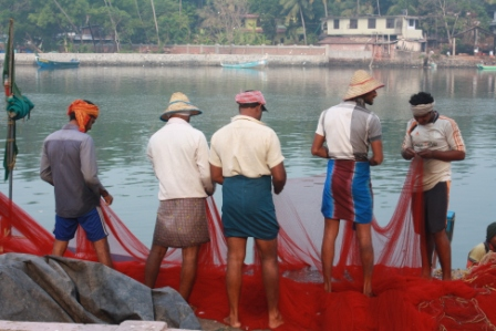 Fishermen in Mahe