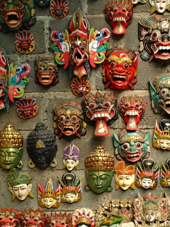 Masks in Bali