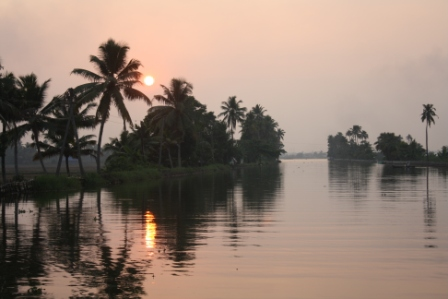 Sunset on Kerala Backwaters