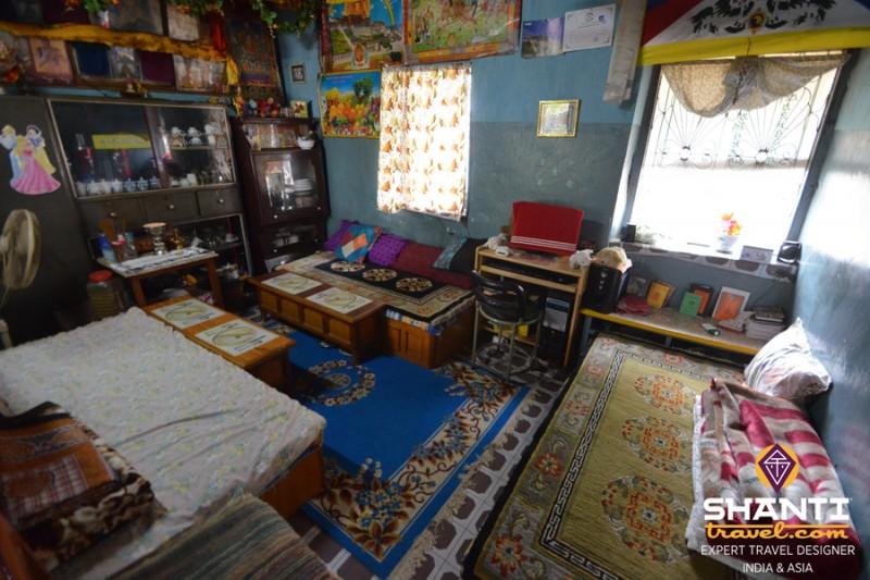 maison tibétaine intérieur