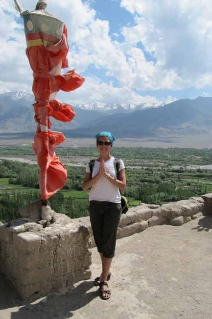 Lucie Birac au Ladakh