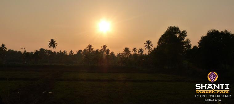 Coucher de soleil sur les backwaters