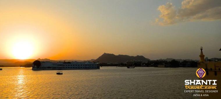 Coucher de soleil à Udaipur