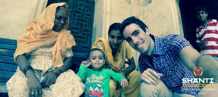 Famille au Rajasthan