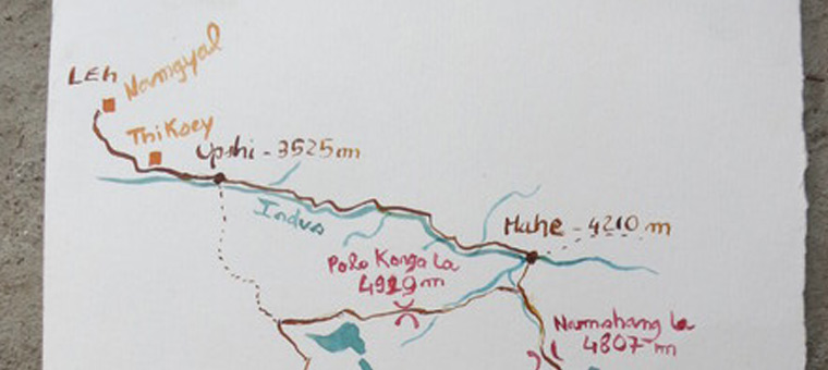 Itinéraire Ladakh Vélo