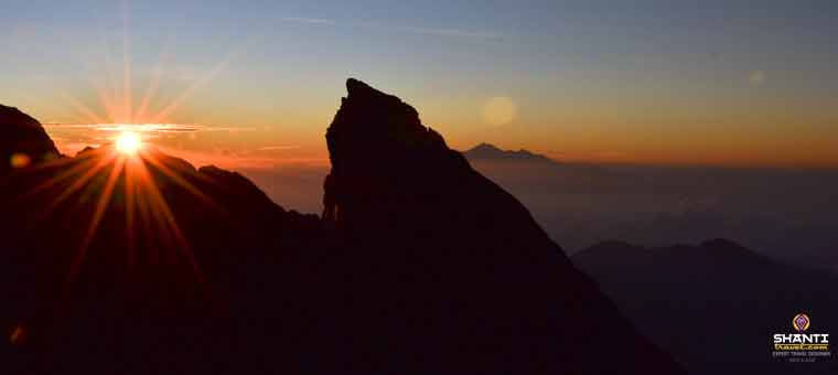 Sunrise from Mount Agung