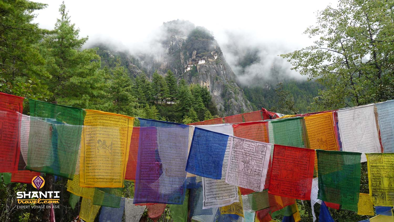 Petits drapeaux au Bhoutan