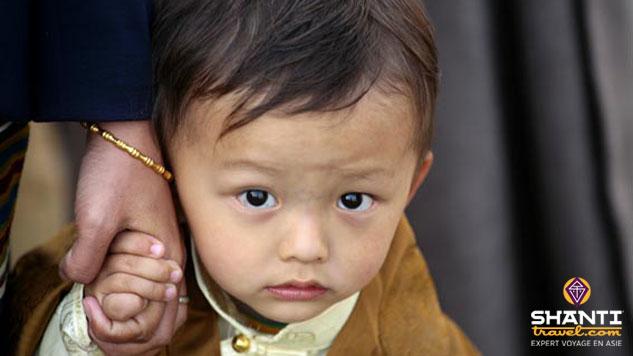 Jeune Tibétain exilé