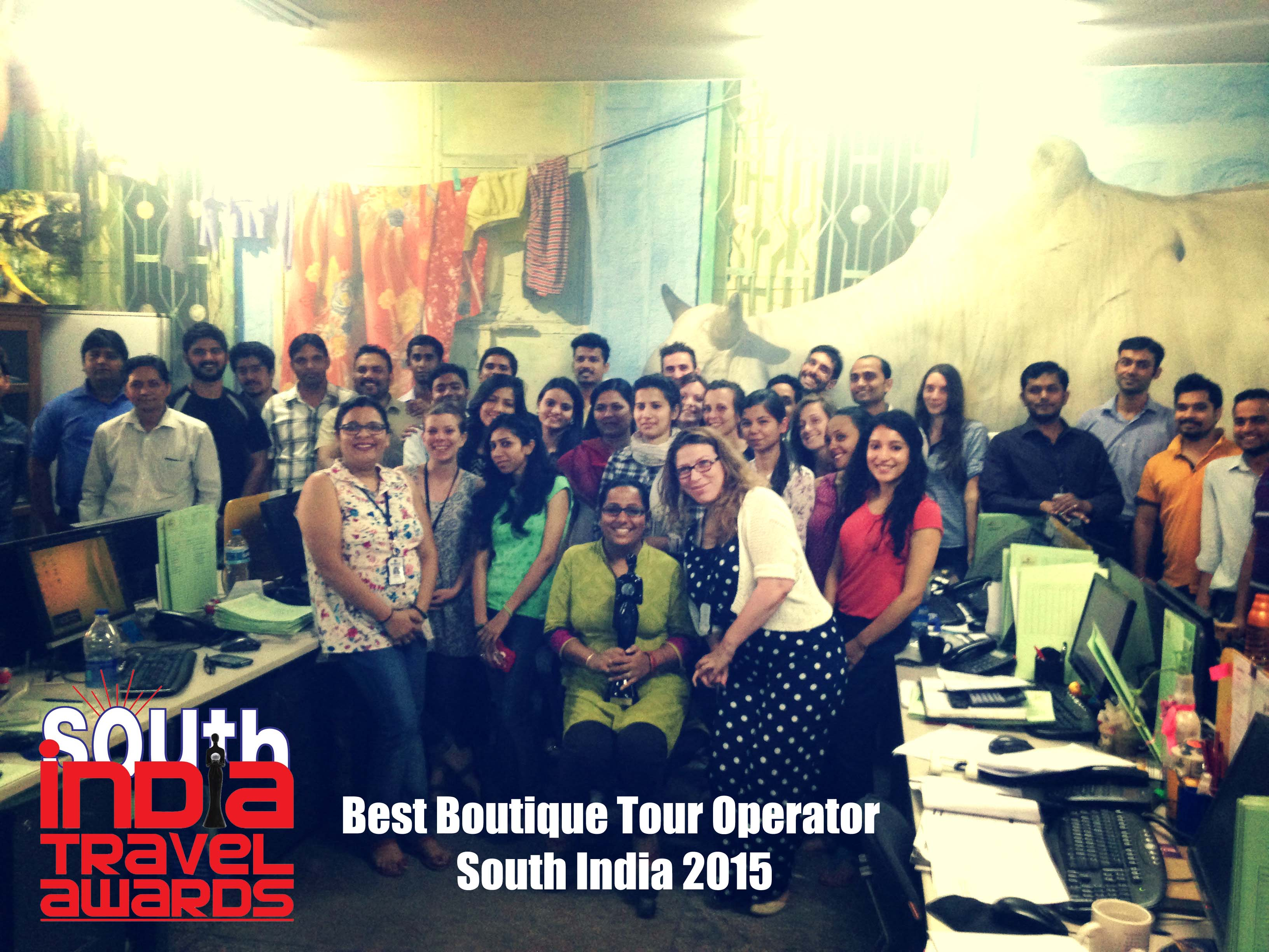 Best Boutique Tour Operator - South India 2015