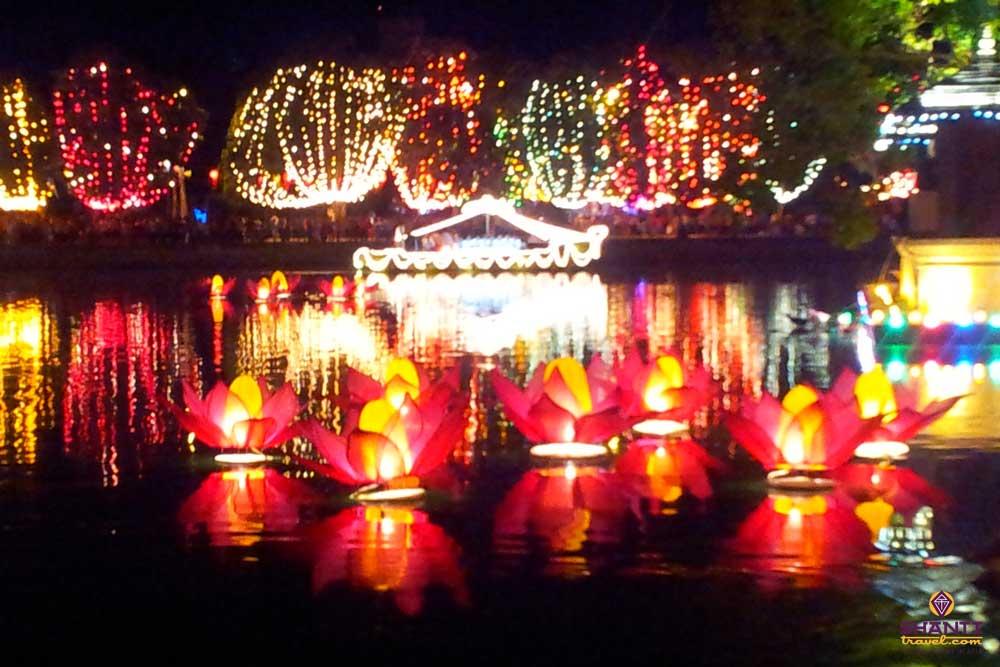 bere lake during vesak festival
