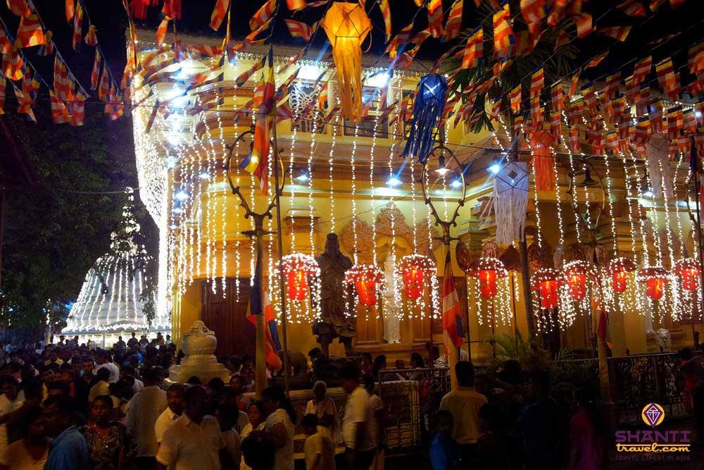 Gangarama Temple during Vesak festival