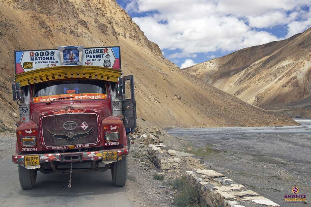 Goods Truck at Ladakh Highway