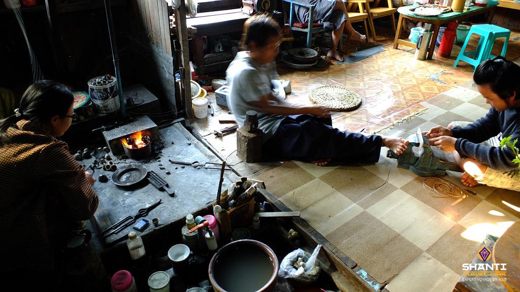 birmanie inle argenterie joaillerie