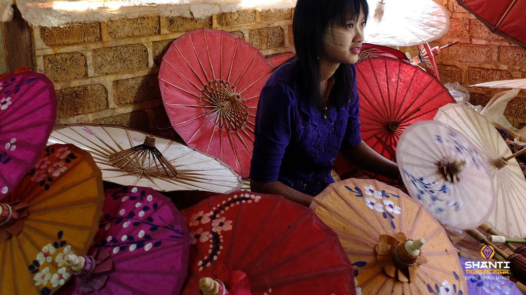 pindaya ombrelle shan birmanie