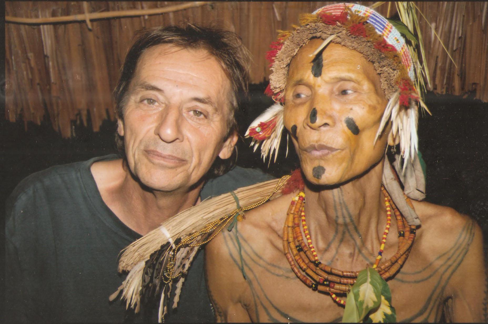 Thierry Robinet et son ami Teu Rochak