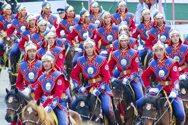 Riders, Nadaam Opening Ceremony, Ulaanbaatar, Mongolia